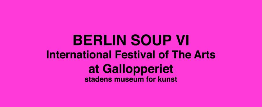 Grafik Berlin Soup på Gallopperiet